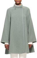 Chloé Iconic Mandarin-Collar Wool Swing Coat