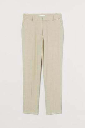 H&M Linen-blend cigarette trousers