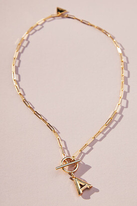 Serefina Chain Link Monogram Necklace By in Size ALL