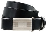 Kids' leather plaque belt