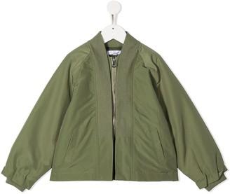 Owa Yurika Zipped Bomber Jacket