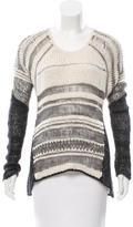 Helmut Lang Long Sleeve Open Knit Sweater