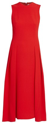 Victoria Beckham Sleeveless Pleated Flare Dress