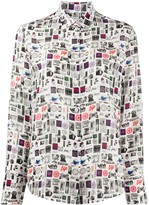 Paul Smith silk patch-work blouse