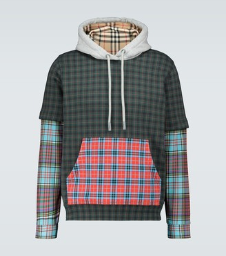 Burberry Hallows patchwork hooded sweatshirt