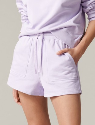 Forever New Ella Loungewear Sweat Shorts - Lilac - l