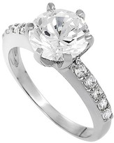 Journee Collection 4/5 CT. T.W. Round-cut Cubic Zirconia Bridal Prong Set Ring in Sterling Silver - Silver