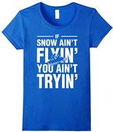 Lego Men's Snowmobile If Snow Aint Flyin You Aint Tryin T-Shirt 3XL