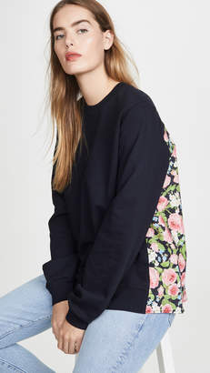 Clu Pullover with Floral Panel