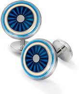Charles Tyrwhitt Blue enamel circle cuff links