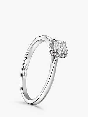 Brown & Newirth Platinum Cushion Cut Diamond Engagement Ring, 0.28ct