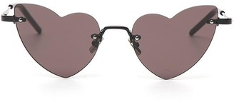 Saint Laurent Eyewear New Wave Loulou 254 Heart-Shaped Sunglasses