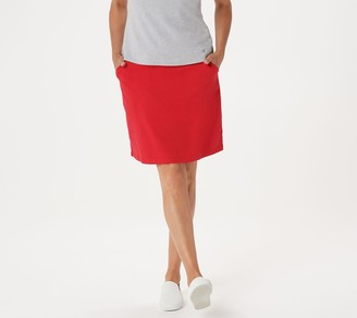 Quacker Factory Petite Pull-On French Terry Skort