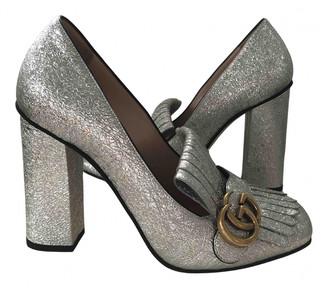 Gucci Marmont Shoes Silver | Shop the