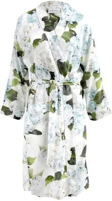 Wallace Cotton Blue Hydrangea Robe