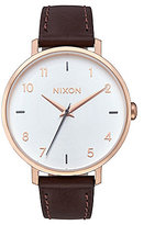 Nixon Arrow Analog Leather-Strap Watch