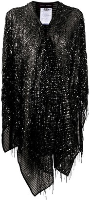 Talbot Runhof Sequin-Embellished Poncho