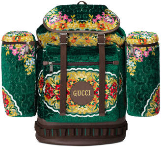 Gucci Men's Tapestry Flap-Top Backpack