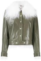 Courreges faux fur trimmed jacket