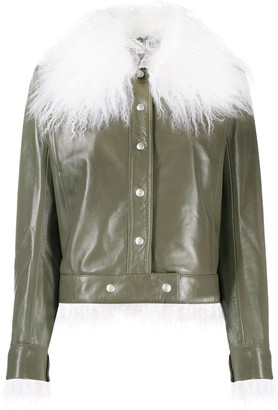 Courreges faux fur trimmed jacket