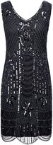 PrettyGuide Women's 1920s Gatsby Sequin Art Deco Plus Size Cocktail Flapper Dress 3XL