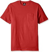 Southpole Men's Short Sleeve Tee with Moto Biker Details on Sleeves