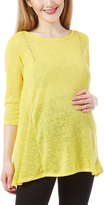Yellow Hatchi Crisscross Maternity Top