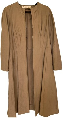 Marni Beige Linen Trench Coat for Women