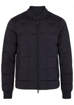Armani Jeans Navy Quilted Shell Bomber Jacket