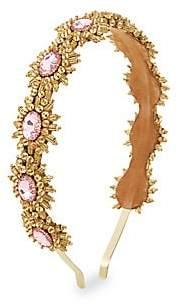 Deepa Gurnani Women's Ansley Pink Crystal Goldtone Metal Headband