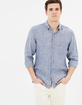 Sportscraft Long Sleeve Yarn Dye Linen Shirt