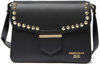 Persaman New York Piera Leather Studded Shoulder Bag