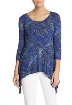 Karen Kane Printed Asymmetrical Jersey Top