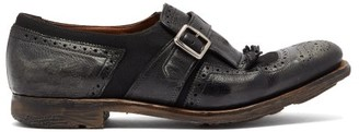 Church's Shanghai W Distressed Leather Loafers - Womens - Black