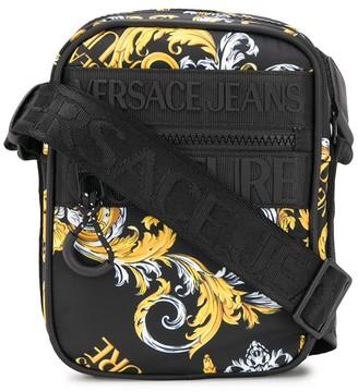 Versace Baroque-Print Messenger Bag