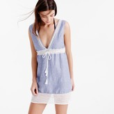J.Crew Striped eyelet tunic