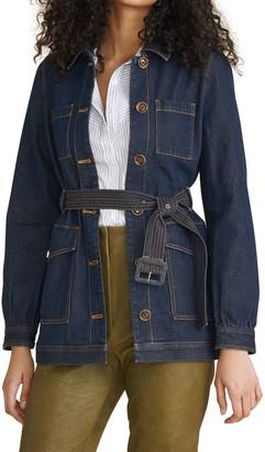 Veronica Beard Jeans Micha Denim Safari Jacket