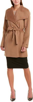 Tahari Belted Wool-Blend Wrap Coat