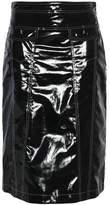 Love Moschino Coated Cotton Skirt