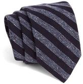 Todd Snyder Hand-Finished Wool Navy Stripe Tie