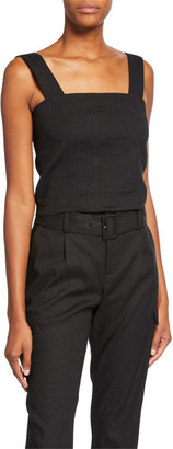 Vince Wide-Strap Cropped Shell