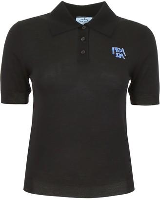 Prada Logo Polo Shirt