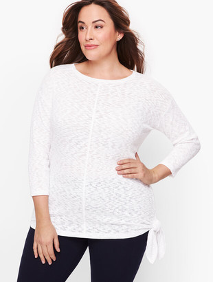 Talbots Side Tie Top