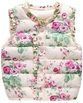 Norbi Cute Kids Toddler Girls Floral Warm Down Vest Waistcoat Outerwear 2-7Y