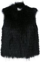 Yves Salomon cropped sleeveless jacket - women - Polyamide/Polyester/Spandex/Elastane/Marmot Fur - 38