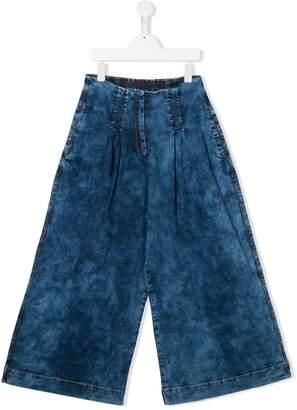 MonnaLisa TEEN stonewashed wide-leg jeans