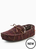 Totes Isotoner Totes Check Moccasin Slipper With Memory Foam
