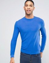 United Colors Of Benetton Crew Neck Jumper In Fine Waffle Knit