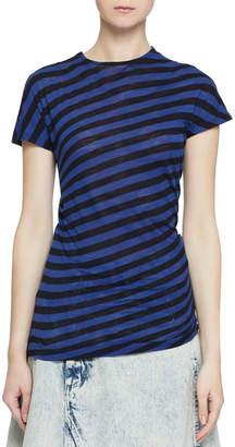 Proenza Schouler Short-Sleeve Twisted Stripe T-Shirt