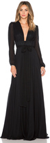 Jill Stuart JILL Deep V Maxi Dress